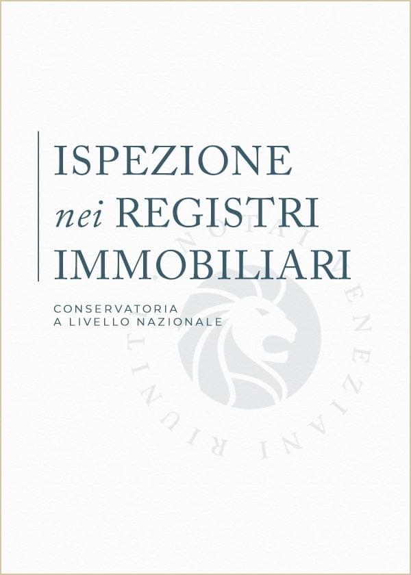 Ispezione Registri Immobiliari Notai Veneziani Riuniti