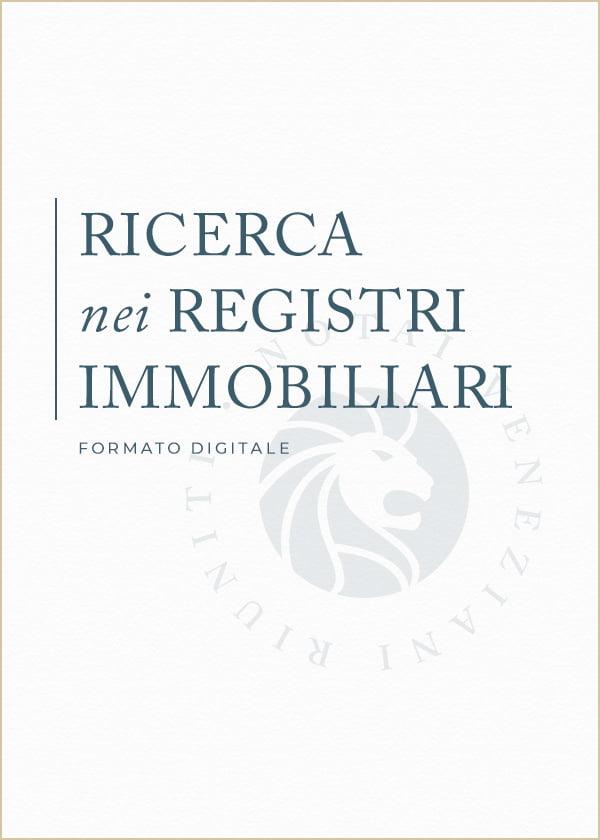 Ricerca Registri Immobiliari Notai Veneziani Riuniti